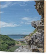 View From Pennard Castle Portrait Wood Print