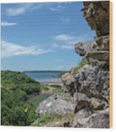 View From Pennard Castle Square Wood Print