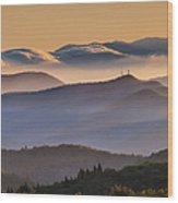 View Of Frying Pan Mountain Wood Print