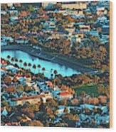 View Of Molteno Reservoir - Cape Town Wood Print