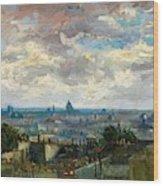 View Of Paris - Digital Remastered Edition Wood Print