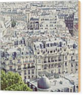 View Of Roofs Of Paris Wood Print
