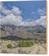 View Of Sandia Mountain Wood Print