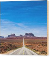 View Of The Monument Valley And The Wood Print