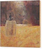 Vineyard Picnic Wood Print