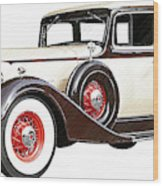 Vintage 1934 Packard Sedan - Dwp2737447 Wood Print