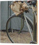 Vintage Bicycle World War II  Wood Print