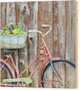 Vintage Bicycles Wood Print