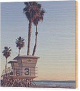 Vintage California Life Guard Station - Wood Print