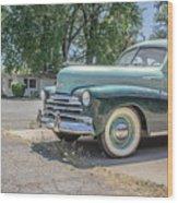 Vintage Car Chevy Fleetmaster Wood Print