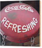 Vintage Coca Cola Sign Asia Wood Print