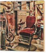 Vintage Dentist Office And Drill Wood Print