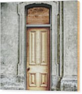 Vintage Door Wood Print