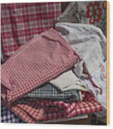 Vintage French Textiles Wood Print
