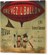 Vintage Hot Air Balloon Wood Print