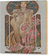 Vintage Poster - Champagne Wood Print