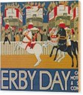 Vintage Poster - Derby Day Wood Print