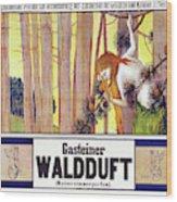 Vintage Poster - Gasteiner Waldduft Wood Print