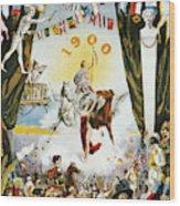 Vintage Poster - Mobile Mardi Gras Wood Print