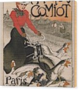 Vintage Poster - Motocycles Comiot Wood Print