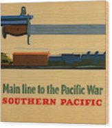 Vintage Poster - Southern Pacific Wood Print