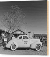 Vintage Race Car Gold King Mine Ghost Town Wood Print