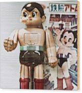 Vintage Robot Astro Boy Wood Print