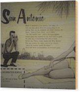 Vintage San Antonio Advertisement Wood Print