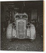 Vintage Service Station Jerome Arizona Wood Print