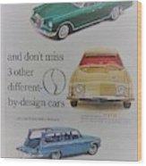 Vintage Studebaker Advertisement Wood Print