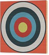 Vintage Target - Orange Wood Print