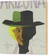 Vintage Travel Poster Arizona 3 Wood Print