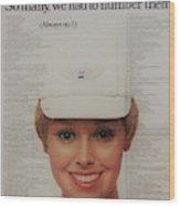 Vintage United Airlines Ad Wood Print