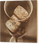 Vintage Vino Wood Print