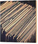 Vinyl Records Wood Print