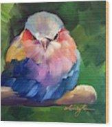 Violet Breasted Roller Bird Wood Print