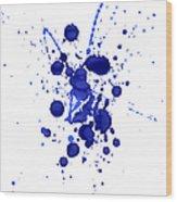 Violet Splashes Wood Print