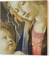 Virgin And Child Renaissance Catholic Art Wood Print