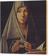 Virgin Annunciate By Messina Wood Print