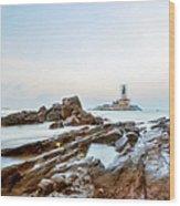 Vivekanandar Rock & Thiruvalluvar Wood Print