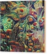 Vivid Masquerade Wood Print