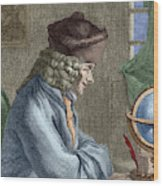 Voltaire In His Office In Vernay Wood Print