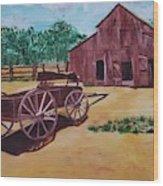Wagons And Barns Wood Print