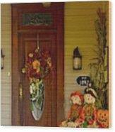 Waiting For Halloween Wood Print
