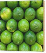 Wall Of Limes Wood Print