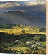 Wanaka, New Zealand Wood Print