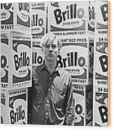 Warhol & Brillo Boxes At Stable Gallery Wood Print