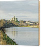 Warkworth Castle And River Aln Wood Print