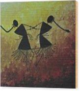 Warli Painting Wood Print
