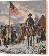 Washington At Valley Forge Wood Print